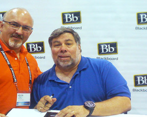 Kevin Corbett with Apple co-founder Steve Wozniak