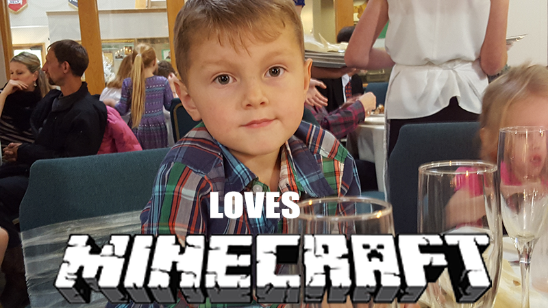 kids LOVE minecraft