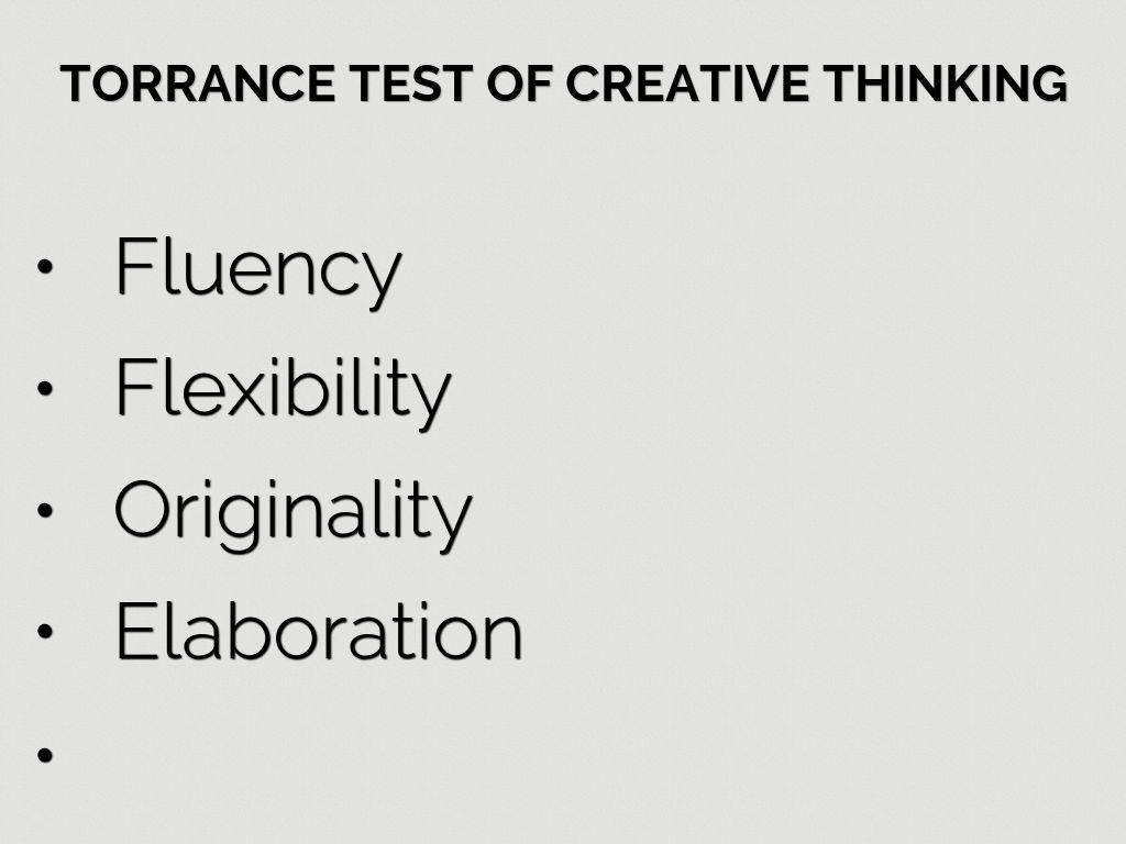 torrance-test-factors